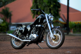 Ink Black Royal Enfield Thunderbird